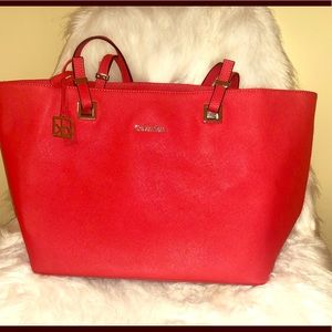 Coral Calvin Klein Bag